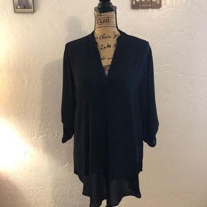 Gibson Latimer navy blue blouse, size medium